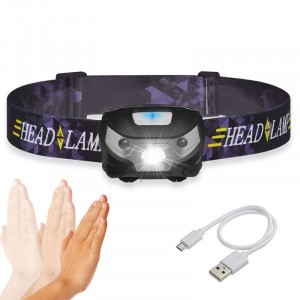 Rechargeable Headlamp Flashlight Led Headlamp, Hot New Products 140 Lumen Sensor Waterproof Rechargeable Headlamp