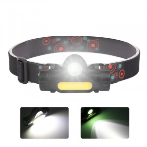 Plastic Most Powerful Headlight Brightness 1000Lumen Multifunction USB Rechargeable magnet Led COB Headlamp