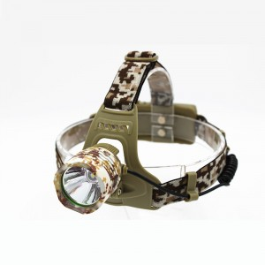 1200 Lumens XM-L T6 Camouflage Headlamp Bicycle Headlight Head Torch Outdoor Camping Lamp Light Rechargeable