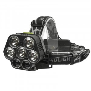 Powerful Led Head Lamp For Hunting Fishing Car Headlamp Led Rechargeable Flashlight Head Light 30000Lm 5*XML-T6+2*XPE Torch Lantern