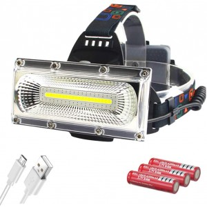 LED Headlamp,USB Rechargeable COB Headlight Waterproof Flood Light for Camping, Hiking, Outdoors, Work Head Lights