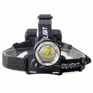 5500 lumens Rechargeable Headlight Zoomable Headlamp Torch Light Flashlight With USB Output As Powerbank