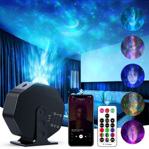 Star Projector, Night Light Projector 270° Rotating Galaxy Projector, with Bluetooth Speaker Remote Control Timer for Baby Kids Bedroom,Game Rooms,Home Theater,Birthday,Party,Wedding