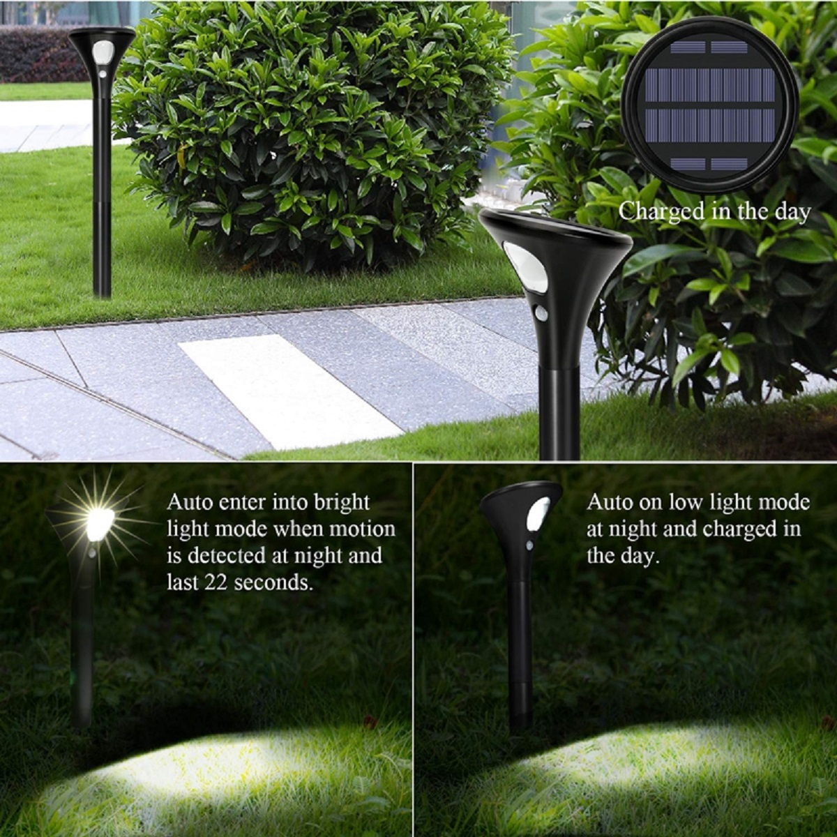 Outdoor Solar Power LED Garden Landscape Lights Waterproof Lawn Yard Decor Light